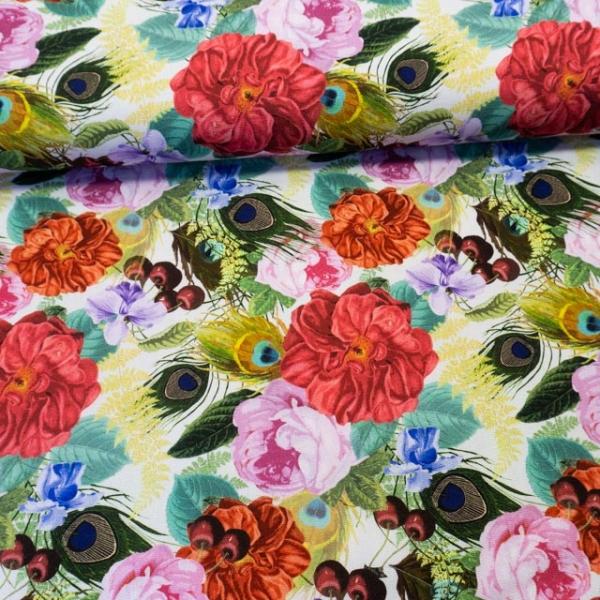 Canvas DIGITAL Floral Bouquet weiß