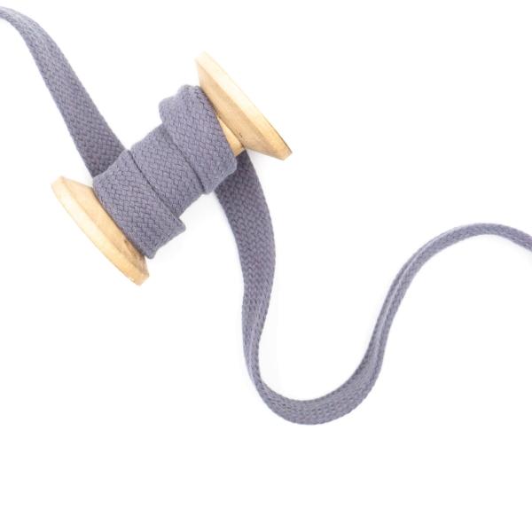 Flachkordel 20mm - Hoodie Kordel mittelgrau