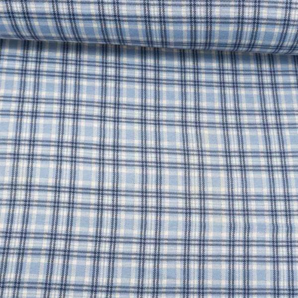Jacquard Jersey Checks blau