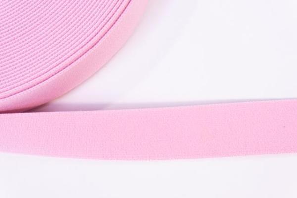 Gummiband SOFT rosa 25mm