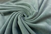 Jersey Feincord Baumwolle dusty mint ÖkoTex 100