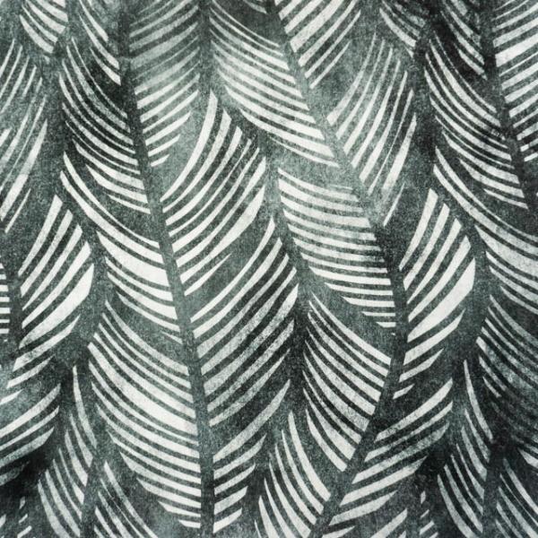 Bio-Baumwolljersey Wavey Leaves Watercolor anthra