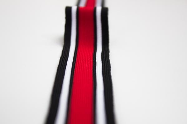 Galonband schwarz-weiß-rot Ökotex 100