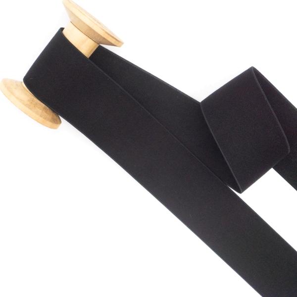 Gummiband SOFT schwarz 40mm
