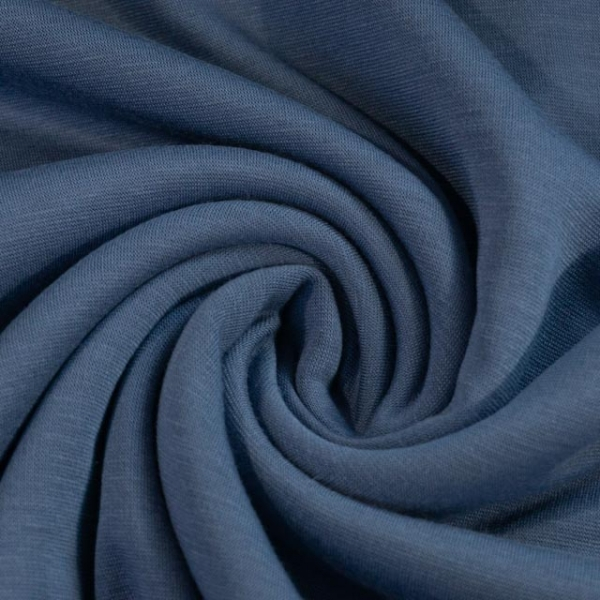 Alpensweat Uni jeansblau Ökotex 100