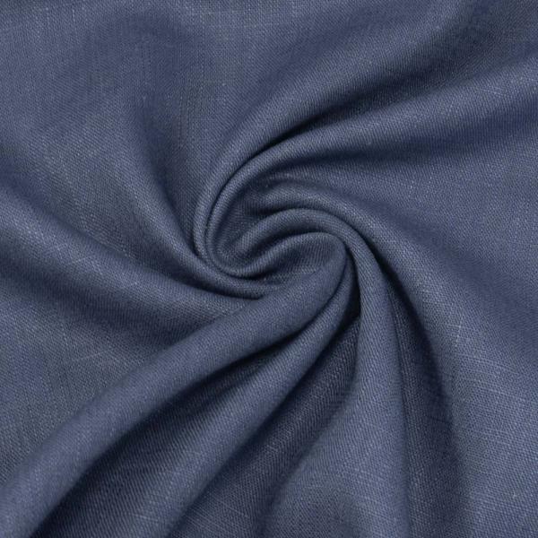 Premium Leinen UNI jeansblau