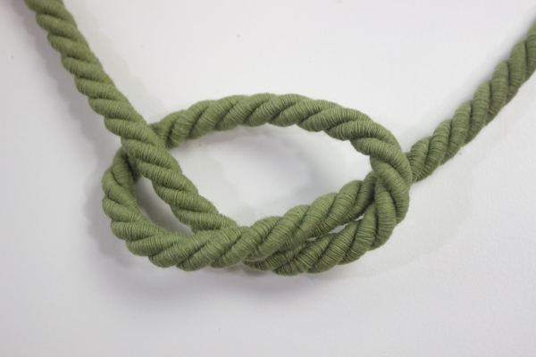 10mm Kordel gedreht oliv Atlaskordel Baumwolle Ökotex 100