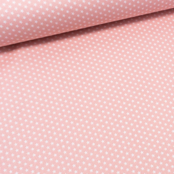 Baumwollwebware Mini Sterne zartrosa