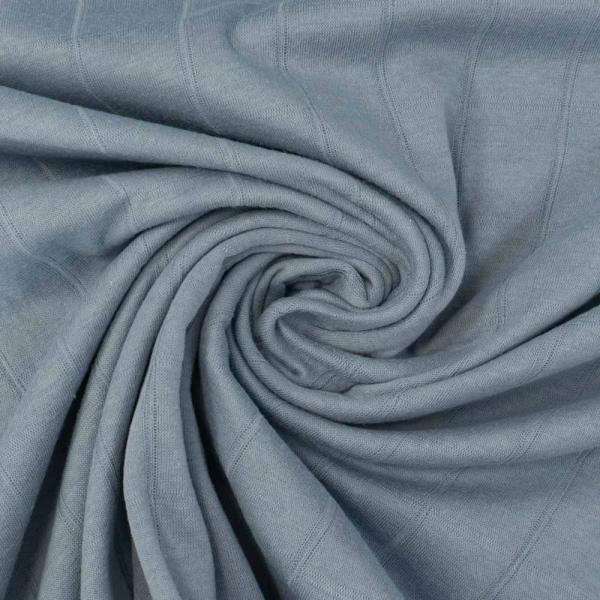 Musselin Jersey Double Uni denim blue