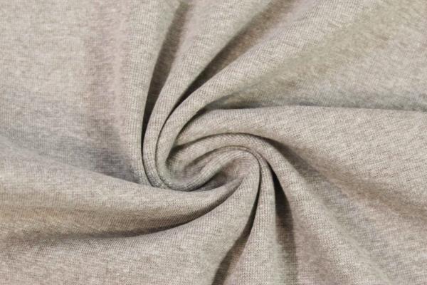 Bündchen Feinstrick MELIERT beige -hohe Sprungkraft- Ökotex 100
