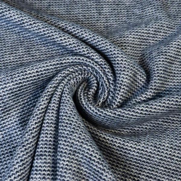 Strick-Jacquard Smooth Knit navy Ökotex 100
