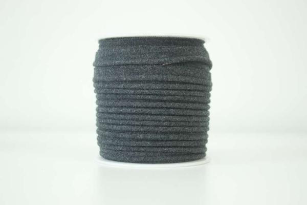 Jersey Paspelband dunkelgrau meliert elastisch