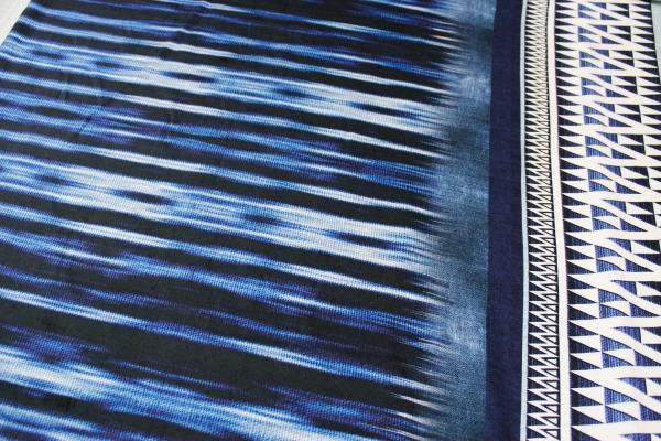 Viskose Bordüre Jeans brush Ökotex 100