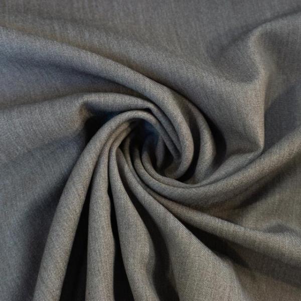 Twill Hosenstoff bi-elastisch Wool Touch Melange taupe Öko Tex 100