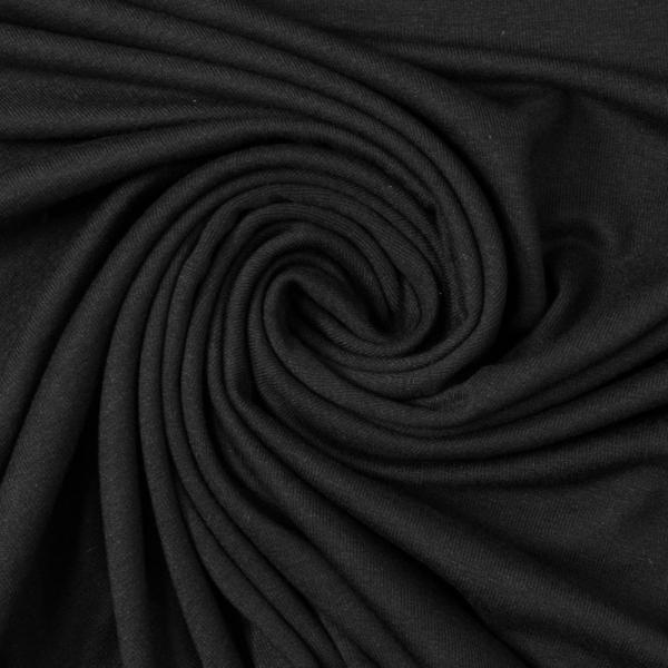 Viskosejersey Uni Vicky deep black