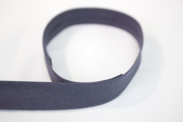 Elastisches Schrägband vorgefalzt anthrazit Ökotex 100
