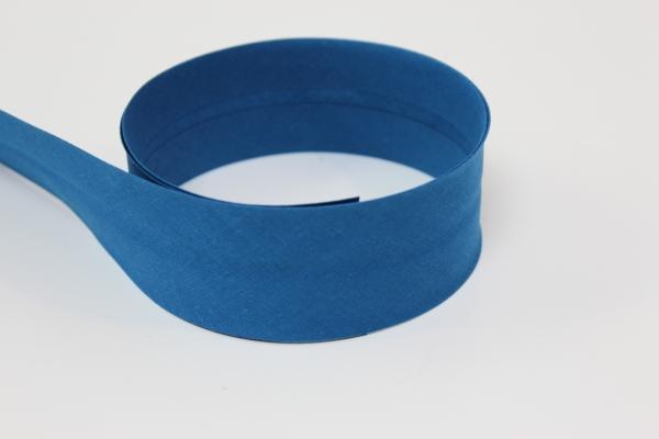 Schrägband 2cm oder 4cm breit vorgefalzt mittelblau Ökotex 100