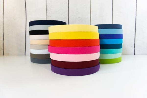 Gummiband SOFT hellgrau 25mm