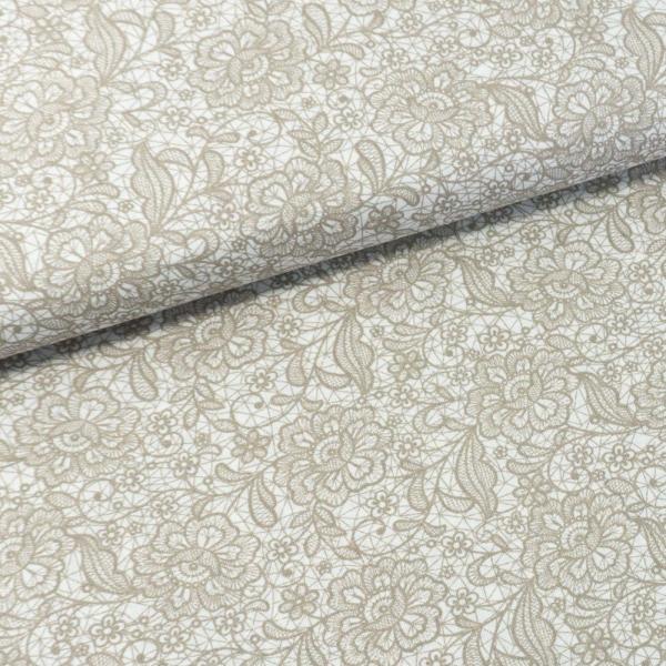 Baumwollwebware Italienische Kollektion Lace beige