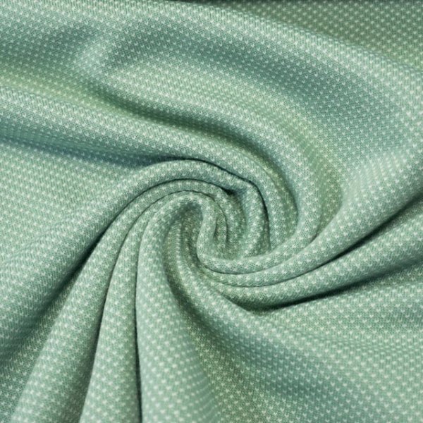 Jacquard-Jersey Fine Knit Dots dusty mint