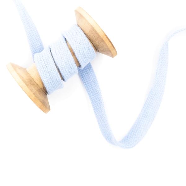 Flachkordel 15mm - Hoodie Kordel hellblau