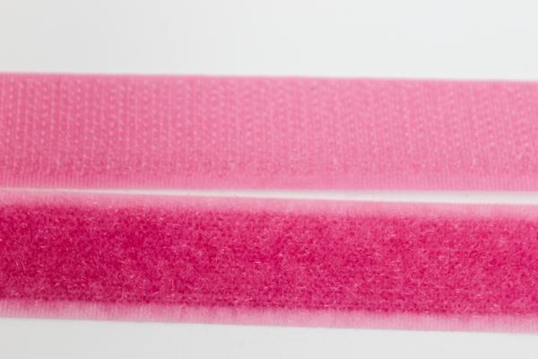 Klettverschluss Schlaufen und Widerhaken rosa 20mm