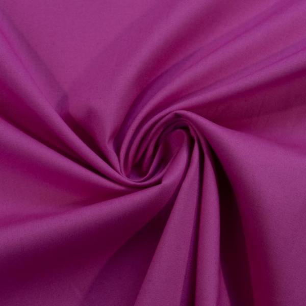 Baumwolle Poplin Stretch Uni knitterarm pink-beere Ökotex 100