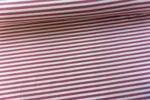 Baumwolljersey Basic STRIPES altrosa Ökotex 100
