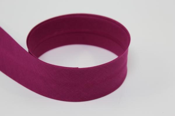 Schrägband 2cm oder 4cm breit vorgefalzt beere hell Ökotex 100