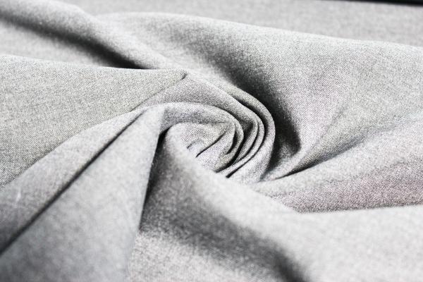 Hosenstoff elastisch Emporio Uni hellgrau meliert Öko Tex 100