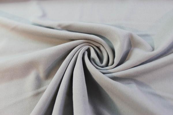 Twill Hosenstoff bi-elastisch Wool Touch Uni hellgrau Öko Tex 100