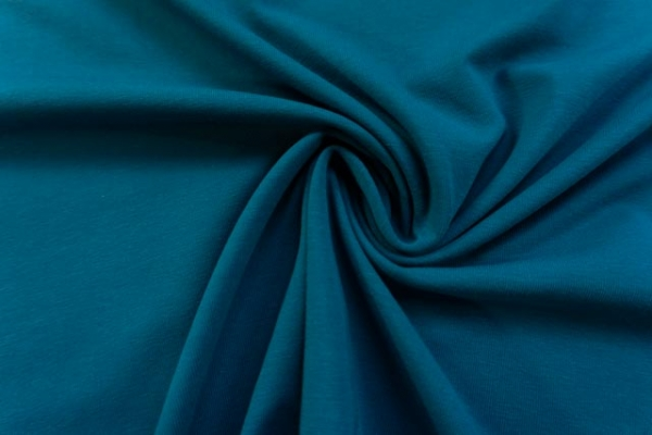 Baumwolljersey SCHWER UNI dunkles jeans -hohe Sprungkraft- Ökotex 100