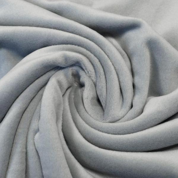 Velvet Samt-Sweat angeraut elastisch hellgrau