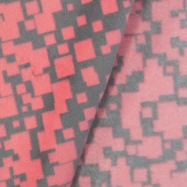 Velvet Fleece Viereck Neon pink