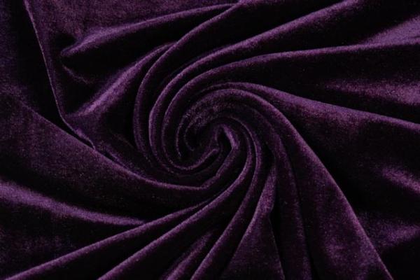 Velvet Samt-Sweat -mehr Glanz - elastisch beere dunkel Ökotex 100