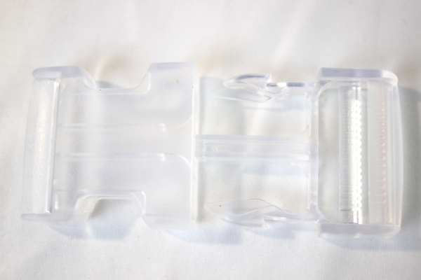 Rucksackschließe klar 40mm Kunststoff