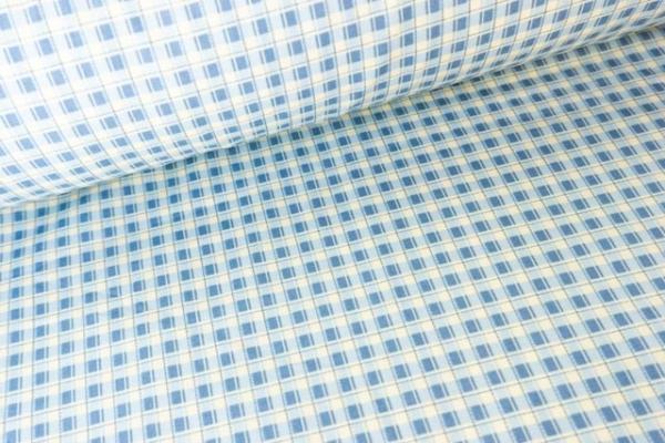 Gütermann Blooms little Checks jeans-vanille Öko Tex 100
