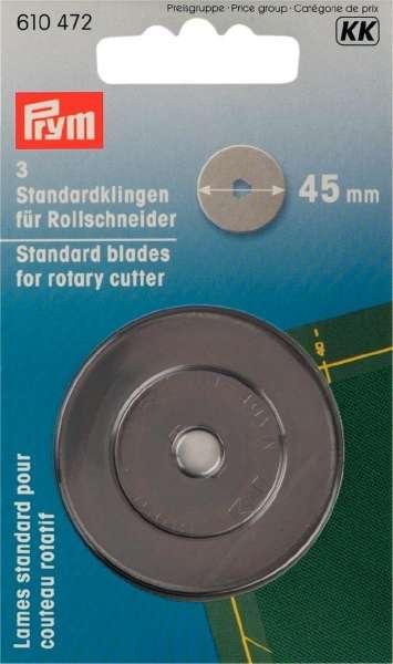 Prym 3 ERSATZKLINGEN für Rollschneider Maxi 45mm