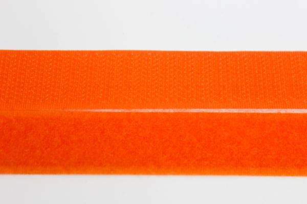 Klettverschluss Schlaufen und Widerhaken orange 20mm