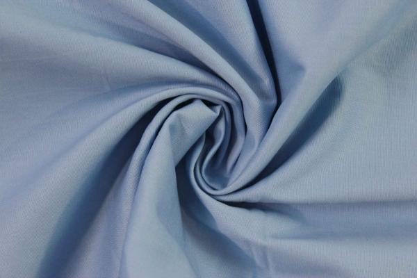 Baumwolle Poplin Stretch Uni knitterarm hellblau Ökotex 100