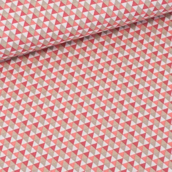 Baumwollwebware Triangles altrosa dunkel