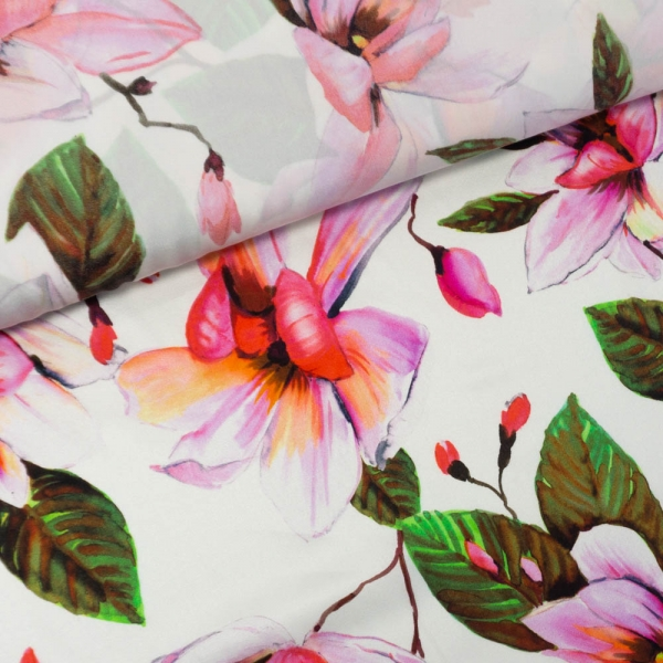 Ital. Seide Stretch Deluxe Magnolia ecru