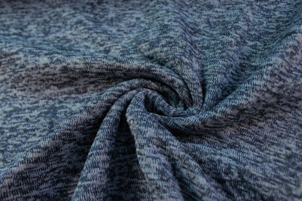 Nakatana Strick Fleece melange jeansblau hell
