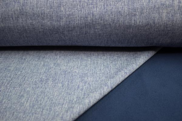 Softshell Uni Jeanslook jeansblau meliert Öko Tex 100