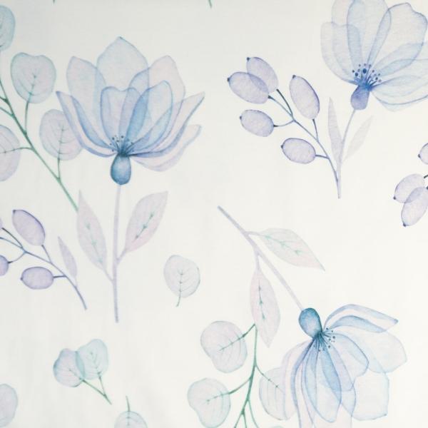 Bio-Baumwolljersey X-Ray Flowers ecru