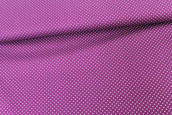 Baumwolle/Webware Petit Dots lila Ökotex 100