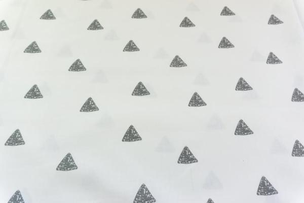 Baumwolle/Webware Drawing Triangle weiß-anthra Ökotex 100