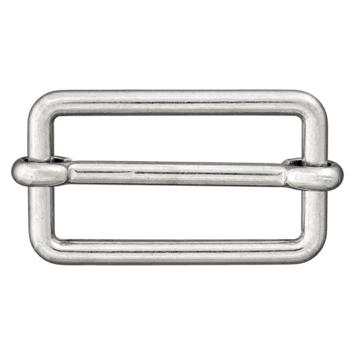 Metallschließe silber 40mm