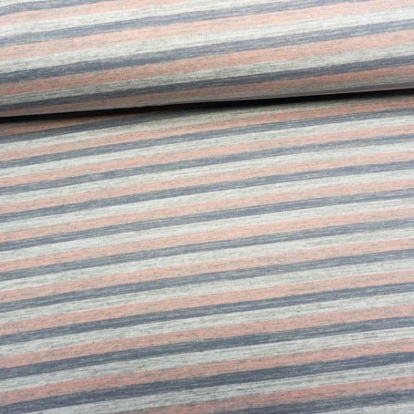 Sweat French Terry ANGERAUT Vintagestripes grau