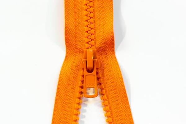 YKK teilbarer Reißverschluss Jacken Krampe orange Ökotex 100